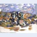 Mont sainte victoire seen from les lauves 1905
