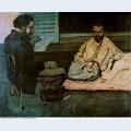 Paul alexis reading a manuscript to emile zola