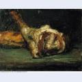 Still life bread and leg of lamb 1866