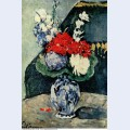 Still life delft vase with flowers 1874