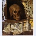 Still life skull and waterjug