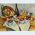 Still life with bottle and apple basket 1894