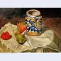 Still life with italian earthenware jar