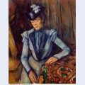Woman in blue madame cezanne