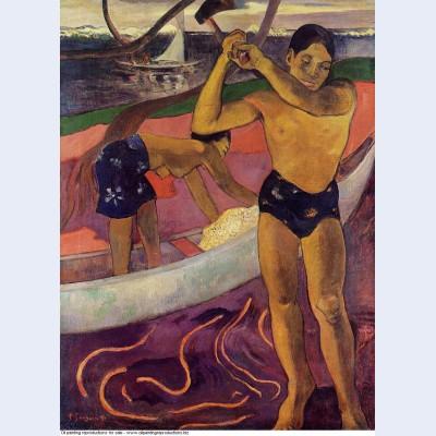 A man with axe 1891