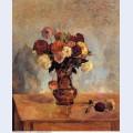 Dahlias in a copper vase 1885