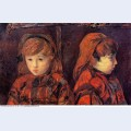 Double portrait of a young girl mademoiselle lafuite 1883