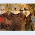 Four breton women 1886