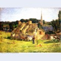 Lollichon s field and the church of pont aven 1886