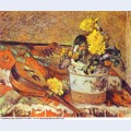 Mandolina and flowers 1883