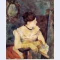 Mette gauguin in an evening dress 1884