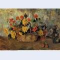 Nasturtiums dahlias in a basket 1884