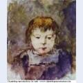 Portrait of gaugin s daughter aline