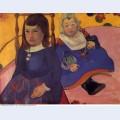 Portrait of two children paul and jean schuffneker