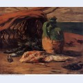 Still life with red mullet and jug 1876