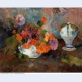 The vase of nasturtiums 1886