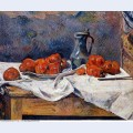 Tomatoes and a pewter tankard on a table 1883