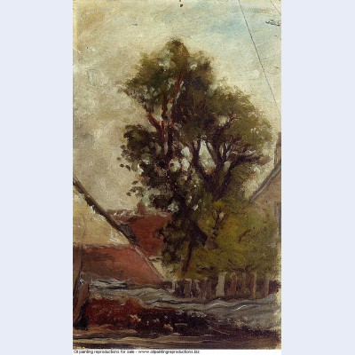 Tree in the farm yard 1874 1