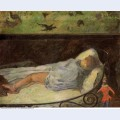 Young girl dreaming study of a child asleep 1881