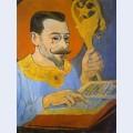 Portrait of paul ranson dressed as a prophet