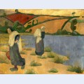 Washerwomen at the laita river near pouldu