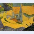 Yellow farm at pouldu