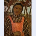 Peasant child with pink apron