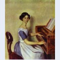 Portrait of nadezhda p zhdanovich at the piano