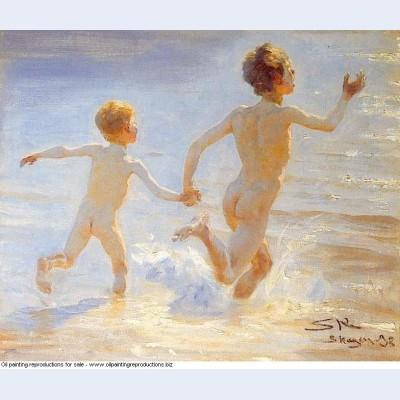 Beach of skagen 1892