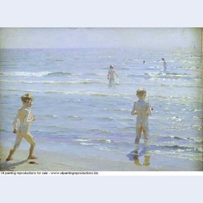 Boys bathing 1892