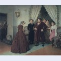 Arrival of a new governess in a merchant house