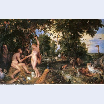 Adam and eve in worthy paradise