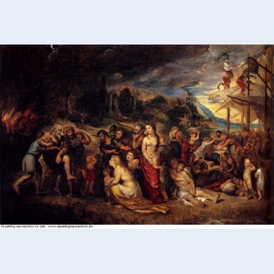 Aeneas and his family departing from troy 1603
