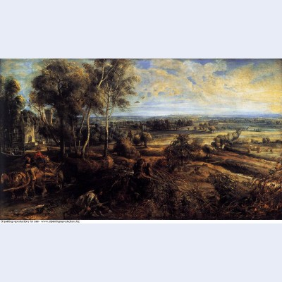 Autumn landscape with a view of het steen