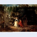 Rubens and helene fourment in the garden