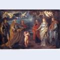 St george with martyrs maurus papianus domitilla nerus and achilleus