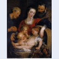 The holy family with st elizabeth 1615 1