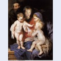 The holy family with st elizabeth and the infant st john the baptist