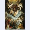 The madonna della vallicella adored by seraphim and cherubim