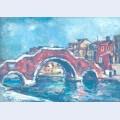 Bridge with three arches