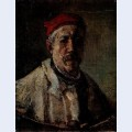 Self portrait with red bonnet