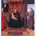 The virgin and child enthroned with saints jerome and francis