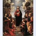 The immaculate conception with saints