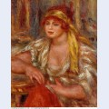 Andree in yellow turban and blue skirt 1917