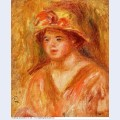 Bust of a young girl in a straw hat 1917