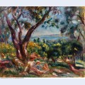 Cagnes landscape with woman and child 1910