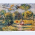 Figures in a landscape 1900