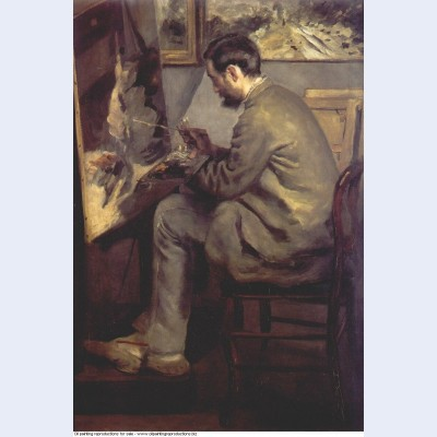 Frederic bazille painting the heron 1867