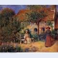 Garden scene in brittany 1886