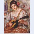 Girl with a mandolin 1918